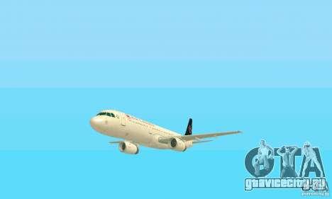 Airbus A321 Air Canada для GTA San Andreas вид сбоку