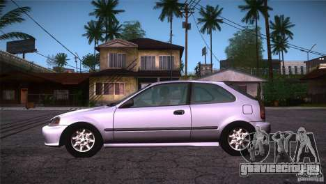 Honda Civic Tuneable для GTA San Andreas вид слева