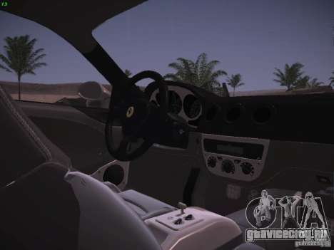 Ferrari 360 Modena для GTA San Andreas салон