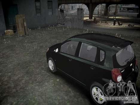 Chevrolet Aveo LT 2009 для GTA 4 вид сзади слева