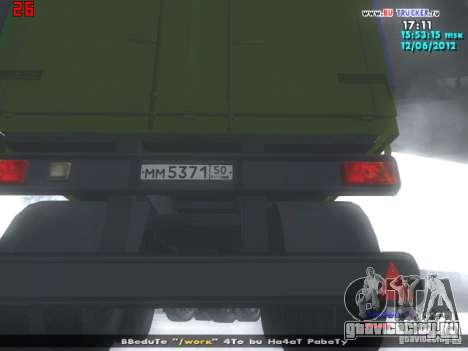 НефАЗ 93344 для GTA San Andreas вид сзади