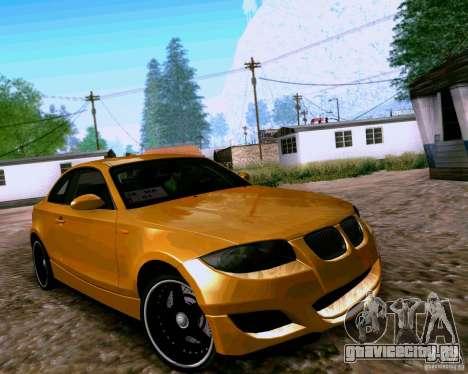 BMW 135 Tuning для GTA San Andreas вид слева