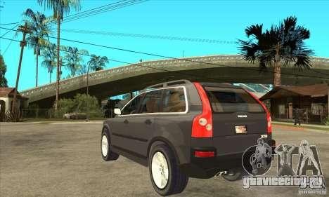 Volvo XC90 Sport для GTA San Andreas вид сзади слева