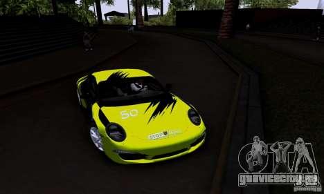 Porsche 911 Carrera S для GTA San Andreas вид изнутри