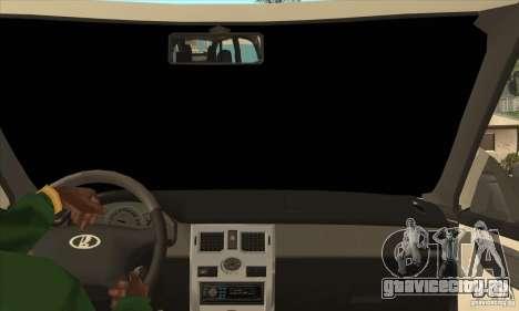 ВАЗ Лада Приора кабриолет для GTA San Andreas вид изнутри