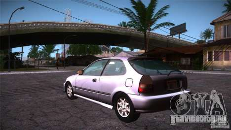 Honda Civic Tuneable для GTA San Andreas вид сзади слева