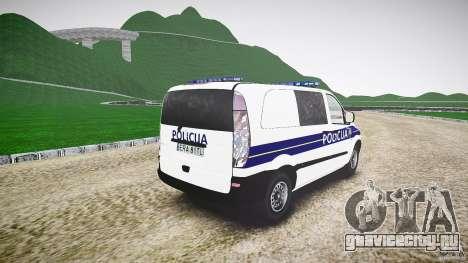 Mercedes Benz Viano Croatian police [ELS] для GTA 4 вид сбоку