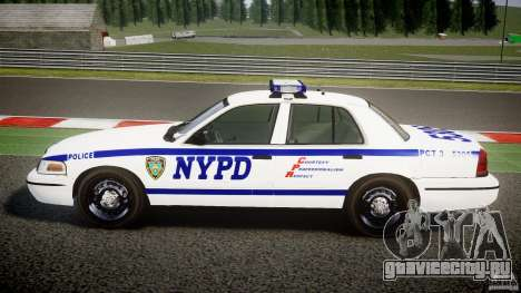 Ford Crown Victoria NYPD [ELS] для GTA 4 вид слева