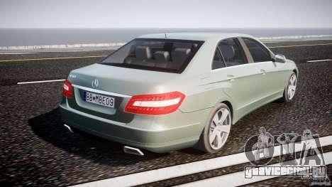 Mercedes-Benz E63 2010 AMG v.1.0 для GTA 4 вид сверху