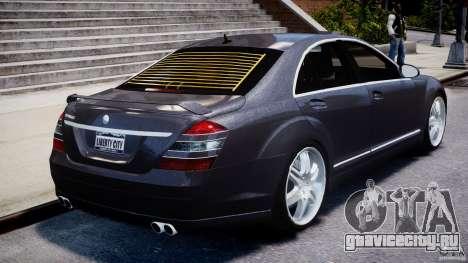 Mercedes-Benz S-Class W221 BRABUS SV12 для GTA 4 вид снизу