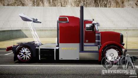 Peterbilt Sport Truck Custom для GTA 4 вид слева