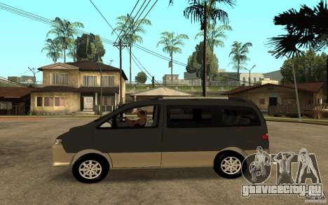 Hyundai Starex для GTA San Andreas вид слева