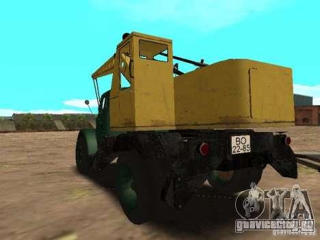 ГАЗ 51 Автокран для GTA San Andreas вид сзади слева