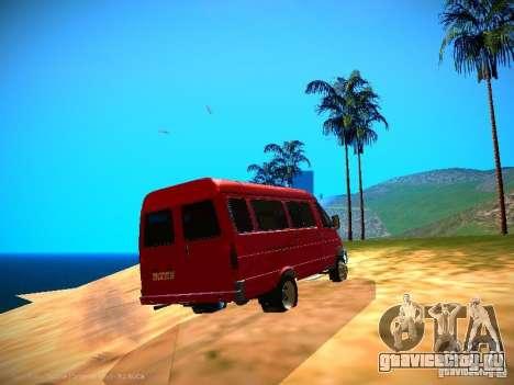 ГАЗель 32213 Бизнес v1.0 для GTA San Andreas вид снизу