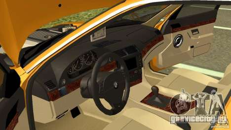 BMW 730i Taxi для GTA San Andreas вид изнутри