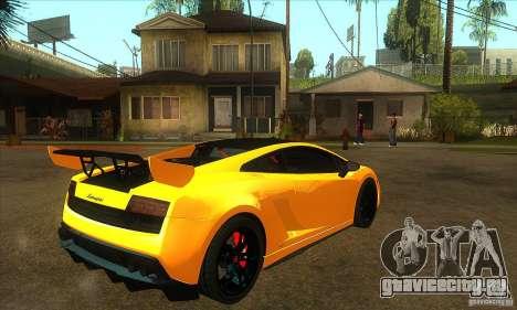 Lamborghini Gallardo LP570 Super Trofeo Stradale для GTA San Andreas вид справа