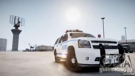 Chevrolet Tahoe 2012 NYPD для GTA 4 вид справа