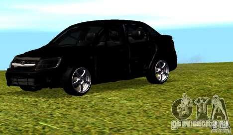 Лада Гранта v2.0 для GTA San Andreas вид сверху