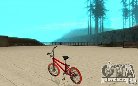 Zeros BMX RED tires для GTA San Andreas вид сзади слева