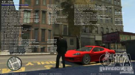 Simple Trainer Version 6.3 для 1.0.6.0, 1.0.7.0 для GTA 4 шестой скриншот