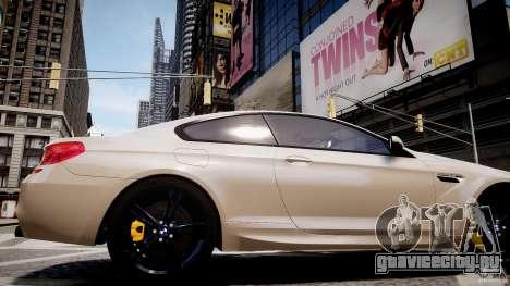 BMW M6 2013 для GTA 4 вид сзади