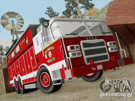 Pierce Walk-in SFFD Heavy Rescue для GTA San Andreas вид снизу
