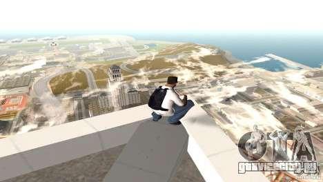 Парашут синий для GTA San Andreas второй скриншот