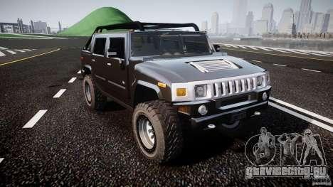 Hummer H2 4x4 OffRoad v.2.0 для GTA 4 вид сзади