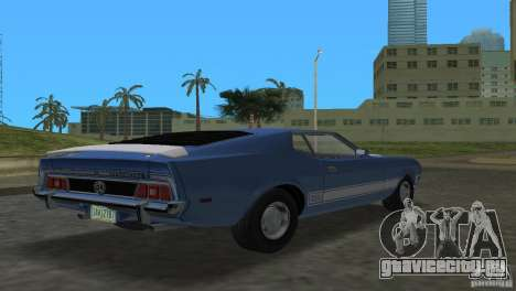 Ford Mustang 1973 для GTA Vice City вид слева