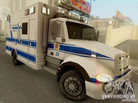 Freightliner Bone County Police Fire Medical для GTA San Andreas вид сзади