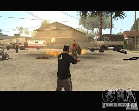 Sangue na tela v2 для GTA San Andreas четвёртый скриншот