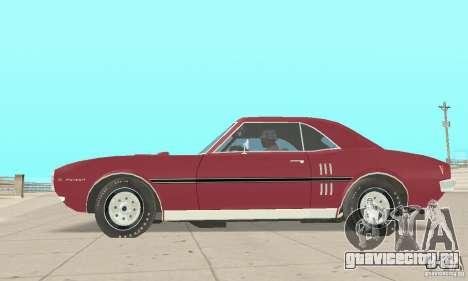 Pontiac Firebird 1968 для GTA San Andreas вид сзади слева