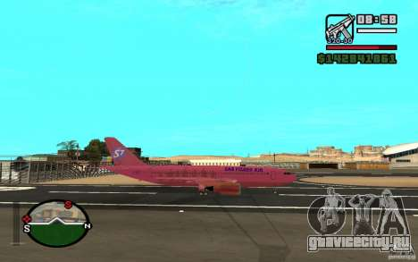 Airbus A-310 S7 SanFierroAir для GTA San Andreas вид справа