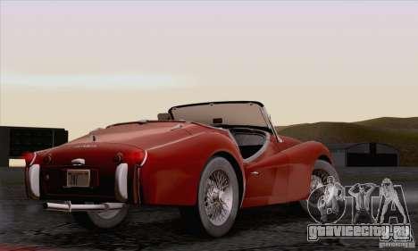 Triumph TR3B 1962 для GTA San Andreas вид изнутри