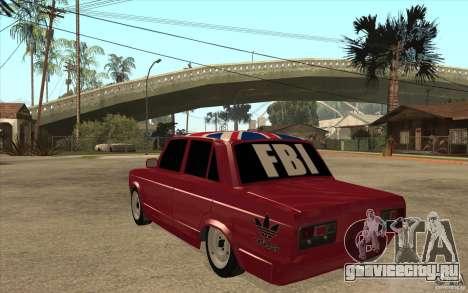 ВАЗ 2107 Бродяга v.2 для GTA San Andreas вид сзади слева