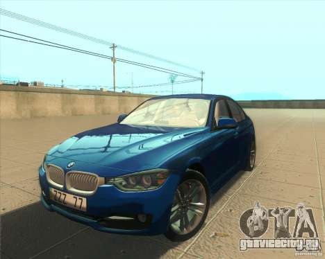 BMW 3 Series F30 2012 для GTA San Andreas салон