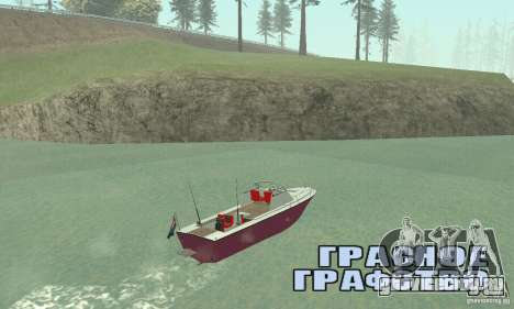 Sports Fishing Boat для GTA San Andreas вид слева