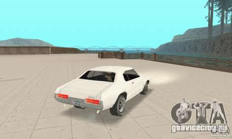 Pontiac GTO 1969 stock для GTA San Andreas вид слева