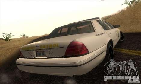 Ford Crown Victoria California Police для GTA San Andreas вид слева