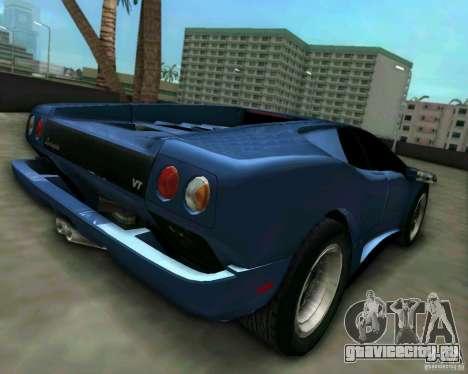 Lamborghini Diablo для GTA Vice City вид слева