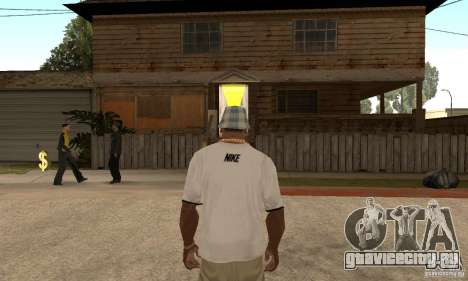 White Nike Shirt для GTA San Andreas второй скриншот