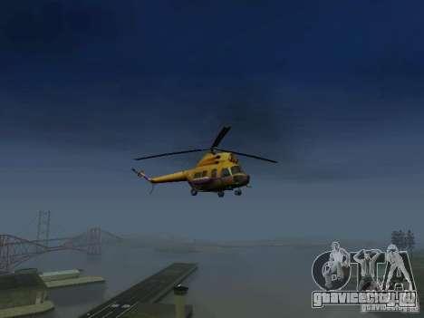 МИ-2 Милицейский для GTA San Andreas вид справа