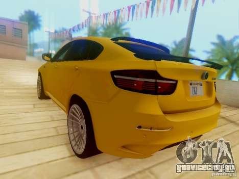 BMW X6 Hamann для GTA San Andreas вид сверху