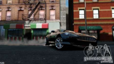 Aston Martin Virage 2012 v1.0 для GTA 4 вид изнутри