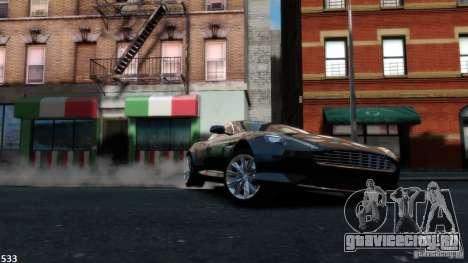 Aston Martin Virage 2012 v1.0 для GTA 4 вид изнутри