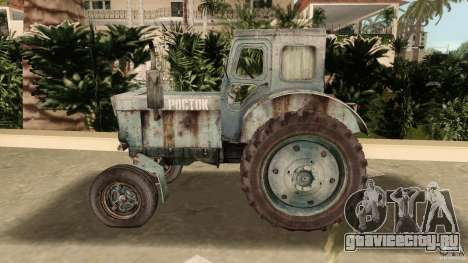 Трактор Т-40 для GTA Vice City вид изнутри