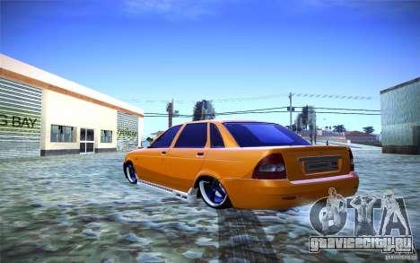 Лада Приора для GTA San Andreas вид слева
