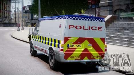 Ford Transit Polish Police [ELS] для GTA 4 вид сзади слева