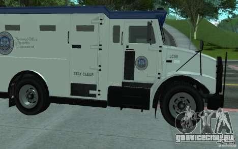 Securicar из GTA IV для GTA San Andreas вид сбоку