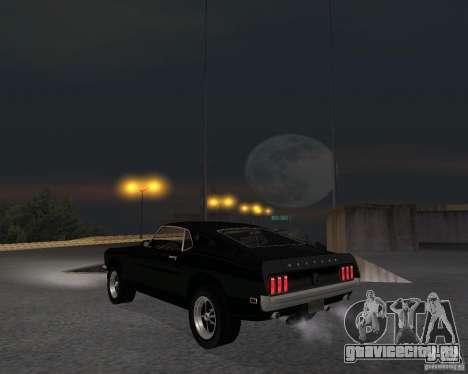 Ford Mustang Boss 1969 для GTA San Andreas вид справа